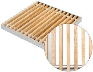 podest drewniany w ramce aluminiowej